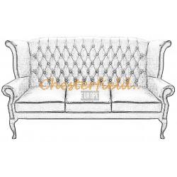 Queen 3er Chesterfield Sofa
