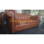 Classic Antikwhisky 3-Sitzer Chesterfield Sofa