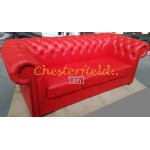 Classic Rot 3-Sitzer Chesterfield Sofa