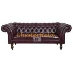 Diva Antikrot 3-Sitzer Chesterfield Sofa