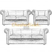 London Chesterfield Garnitur (9)
