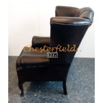 Queen Antikbraun (A5 Dunkel) Chesterfield Ohrensessel