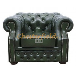Windsor Antikgruen Chesterfield Sessel