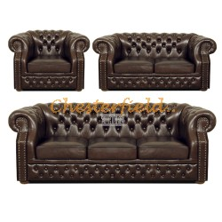 Windsor 321 Antikbraun Chesterfield Garnitur