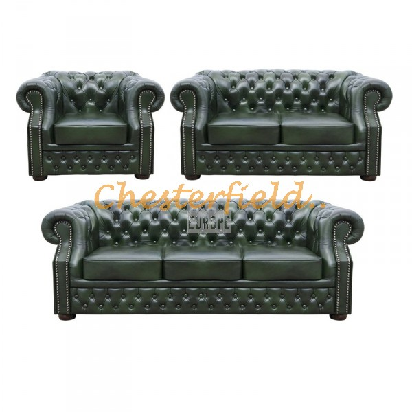 Windsor 321 Antikgruen Chesterfield Garnitur