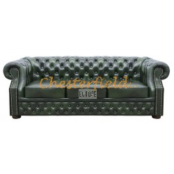 Windsor Antikgruen 3-Sitzer Chesterfield Sofa