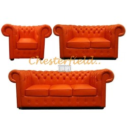 Classic 321 Orange Chesterfield Garnitur