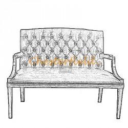 Bestellung King 2-Sitzer Chesterfield Sofa in anderen Farben