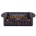 Classic Antikbraun 3-Sitzer Chesterfield Sofa