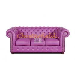 Classic Viola 3-Sitzer Chesterfield Sofa