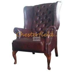 St. James Antikcognac (A4) Chesterfield Ohrensessel