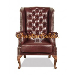 St. James Antikrot (A7) Chesterfield Ohrensessel