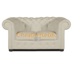 Classic Off-Weiß 2-Sitzer Chesterfield Sofa