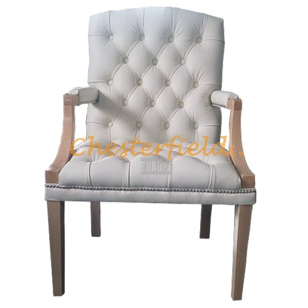 King Off Weiss (K2) Chesterfield Armstuhl