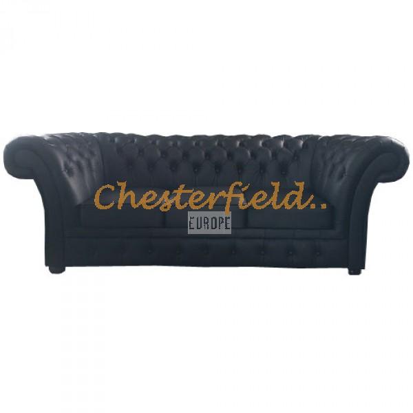 Windchester Schwarz 3-Sitzer Chesterfield Sofa  - TheChesterfields.de