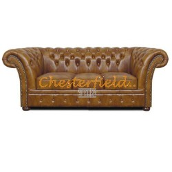 Windchester Antikgold 3-Sitzer Chesterfield Sofa