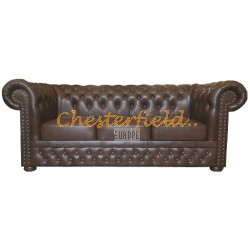 Lord Antikbraun 3-Sitzer Chesterfield Sofa