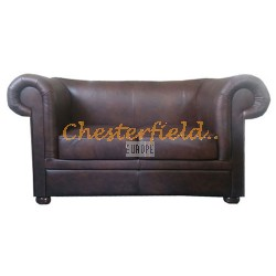 London Antikbraun 2-Sitzer Chesterfield Sofa