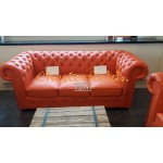 Classic 311 Orange Chesterfield Garnitur