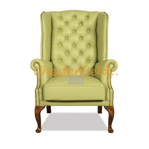 St. James Chesterfield Ohrensessel Olive (S14)