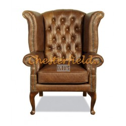 Queen Antikgold (S12) Chesterfield Ohrensessel