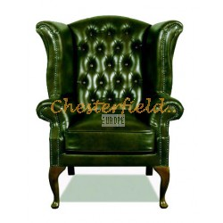 Queen Antikgrun (A8) Chesterfield Ohrensessel