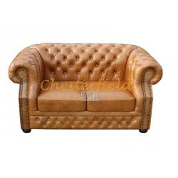 Windsor XL Antikwhisky 2-Sitzer Chesterfield Sofa