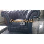 Windchester XL Schwarz Chesterfield Sessel