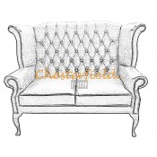 Queen 2er Chesterfield Sofa (2)