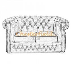 Windsor XL Chesterfield 2er Sofa